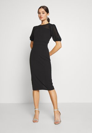 MIDI DRESS - Cocktailklänning - black