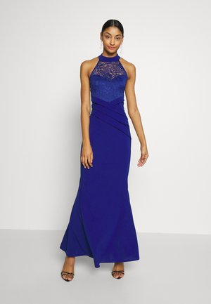 HALTER NECK DRESS - Occasion wear - electric blue