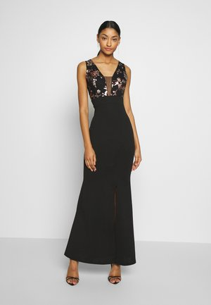 FLORAL MAXI DRESS - Festklänning - black
