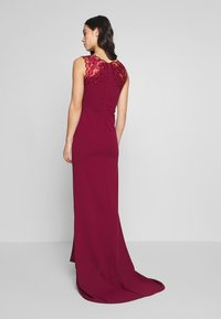 WAL G. - FISHTAIL MAXI DRESS - Abito da sera - wine - 2