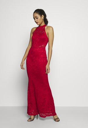 HALTER NECK MAXI DRESS - Iltapuku - red