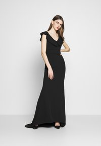 WAL G. - FRILL NECK DRESS - Occasion wear - black - 1