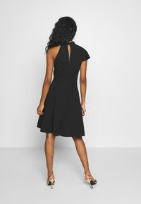 WAL G. - RUFFLE NECK SKATER DRESS - Cocktail dress / Party dress - black - 2