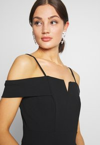 WAL G. - SIDE RUFFLE DETIAL MAXI DRESS - Occasion wear - black/white - 3