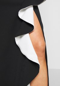 WAL G. - SIDE RUFFLE DETIAL MAXI DRESS - Occasion wear - black/white - 5