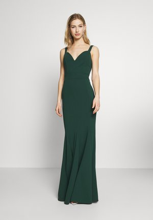 PLEATED MAXI DRESS - Galajurk - forest green