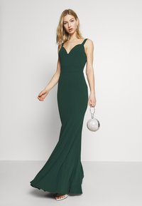 WAL G. - PLEATED MAXI DRESS - Ballkjole - forest green - 1