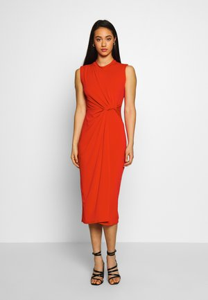 SIDE KNOT DRESS - Vestido de cóctel - red