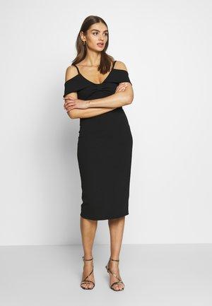 BARDOT WITH BOW - Vestito elegante - black