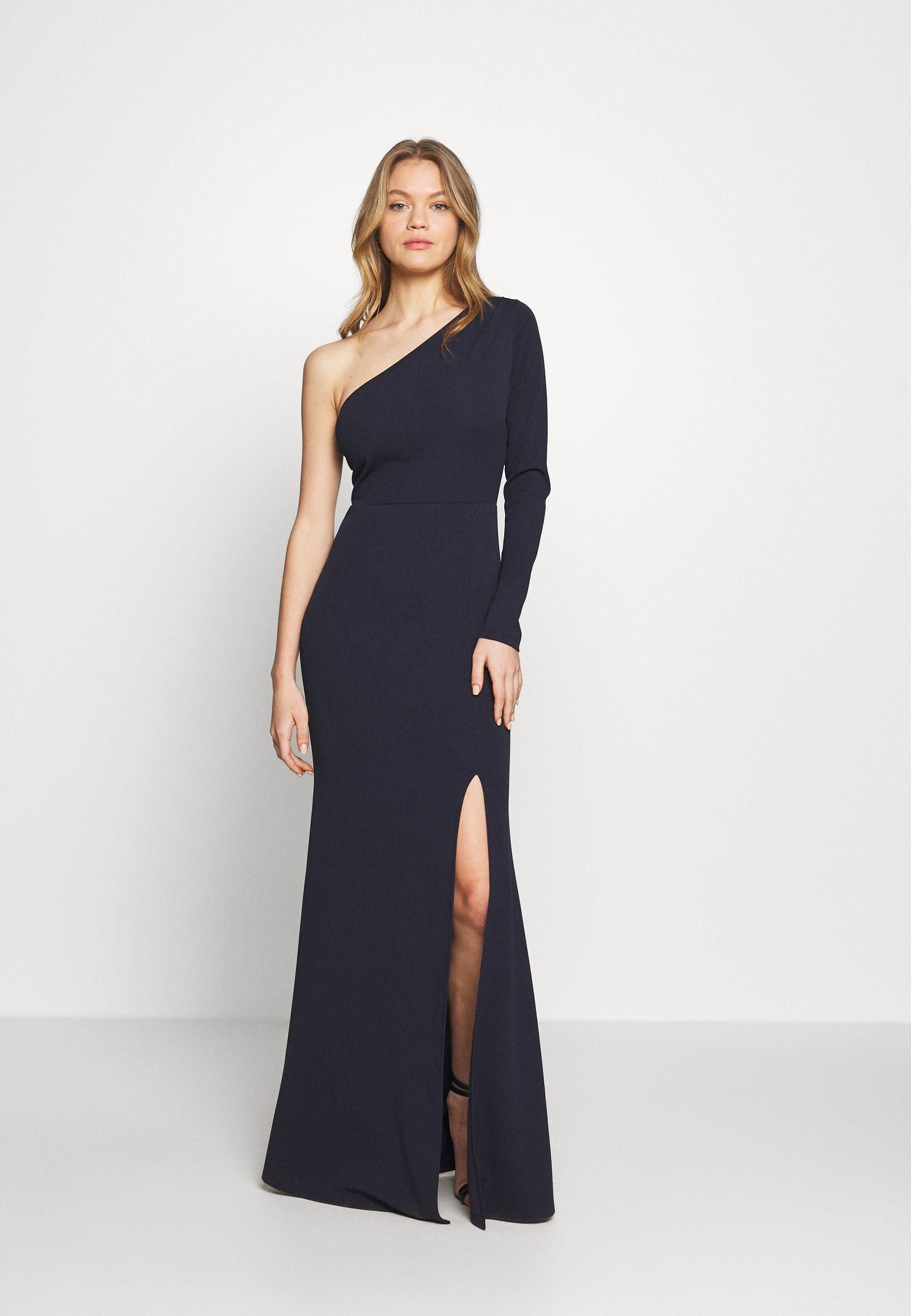 WAL G. ONE SHOULDER MAXI DRESS - Suknia balowa - navy blue