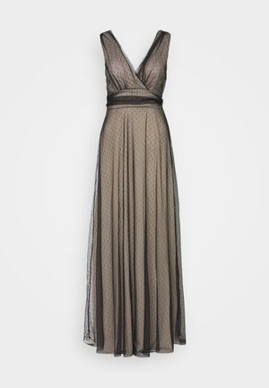 OVER LAY DRESS - Abito da sera - black/nude