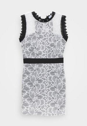 FULL MIDI DRESS - Robe de soirée - white/black