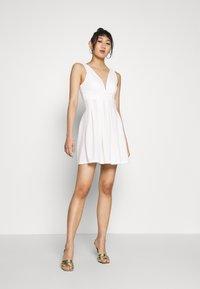 WAL G. - TOP MINI DRESS - Day dress - white - 1