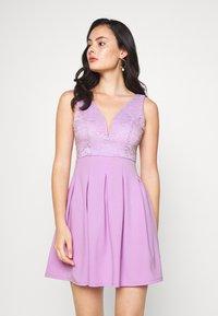 WAL G. - TOP MINI DRESS - Jersey dress - lilac - 0