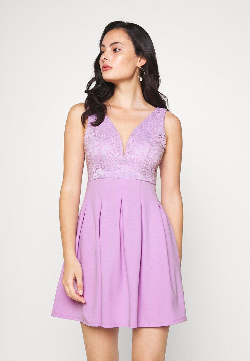 WAL G. - TOP MINI DRESS - Jersey dress - lilac