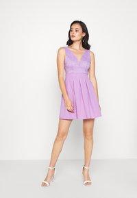 WAL G. - TOP MINI DRESS - Jersey dress - lilac - 1