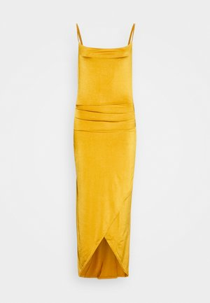STRAPPY COWELL NECK LONG DRESS - Cocktailkjole - mustard
