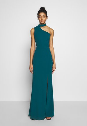 HALTER NECK WITH STRAP DRESS - Galajurk - teal blue