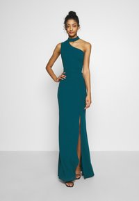 WAL G. - HALTER NECK WITH STRAP DRESS - Vestido de fiesta - teal blue - 1