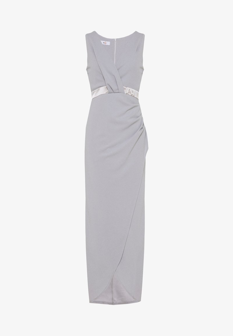 WAL G. - WRAP DRESS - Abito da sera - pearl grey