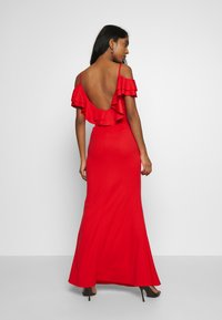 WAL G. - FRILL SLEEVE MAXI DRESS - Occasion wear - coral - 2