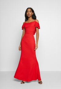 WAL G. - FRILL SLEEVE MAXI DRESS - Occasion wear - coral - 1