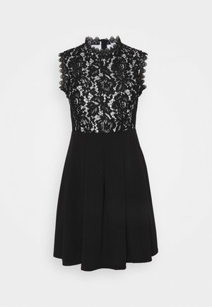 SKATER DRESS - Day dress - black/white