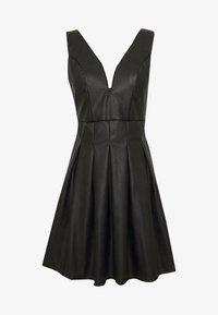 WAL G. - PLEATED SKATER DRESS - Vestito elegante - black - 5