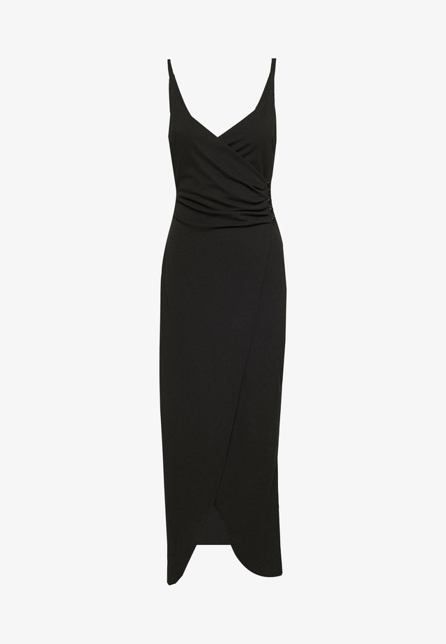 BUTTON DETAIL LONG DRESS - Cocktail dress / Party dress - black