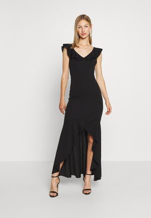 LAYERED HEM LONG DRESS - Abito da sera - black