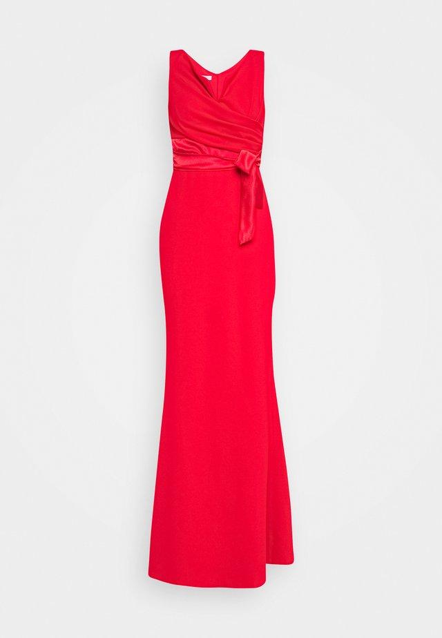 BARDOT BAND DRESS - Společenské šaty - red