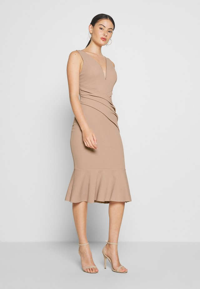 FRILL LAYERED MIDI DRESS - Juhlamekko - blush pink