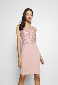 WAL G. - LACE DETAIL MIDI DRESS - Cocktailkjole - blush pink - 0