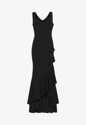 FRILL HEM MAXI DRESS - Iltapuku - black