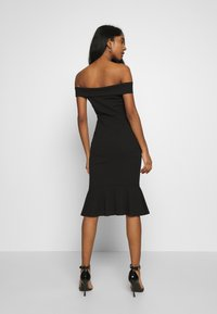 WAL G. - BARDOT FRILL HEM DRESS - Cocktailkjole - black - 2