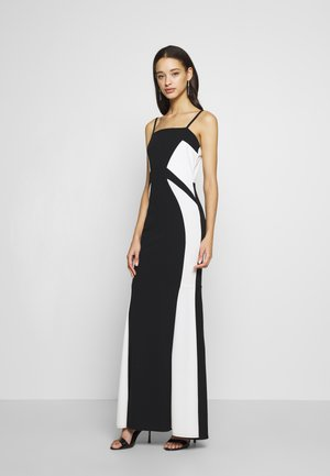 DETAIL DRESS - Occasion wear - black/white