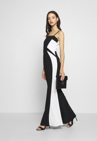 WAL G. - DETAIL DRESS - Vestido de fiesta - black/white - 2
