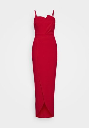 PANEL DETAIL LONG DRESS - Iltapuku - red