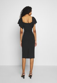 WAL G. - FLARE SLEEVE MIDI DRESS - Cocktailkjole - black - 2