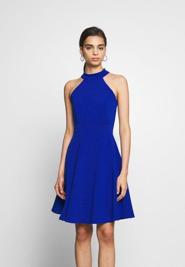 HALTER NECK SKATER DRESS - Cocktailkjole - electric blue