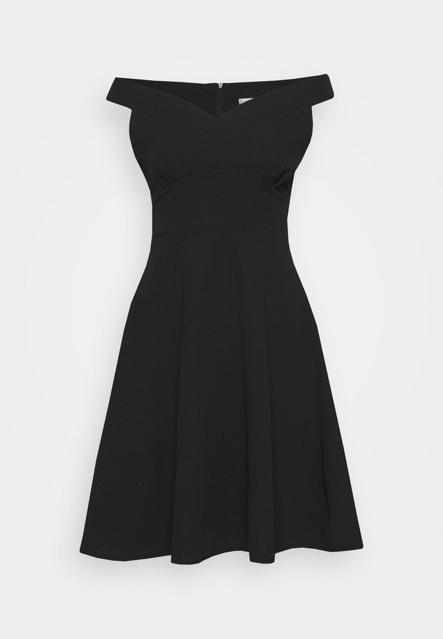 BARDOT MIDI DRESS - Jerseyjurk - black