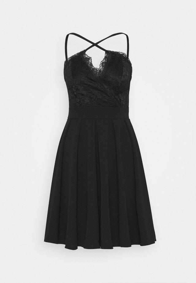 SKATER DRESS - Cocktailjurk - black