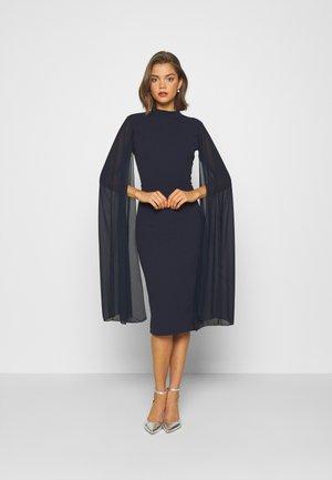 CAPE SLEEVE DRESS - Cocktailjurk - navy blue