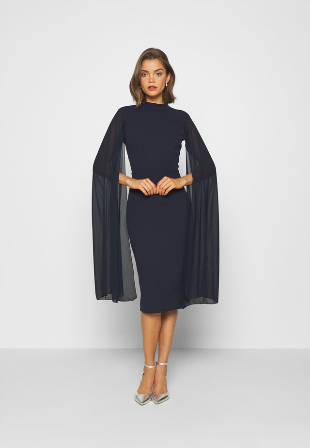 CAPE SLEEVE DRESS - Robe de soirée - navy blue