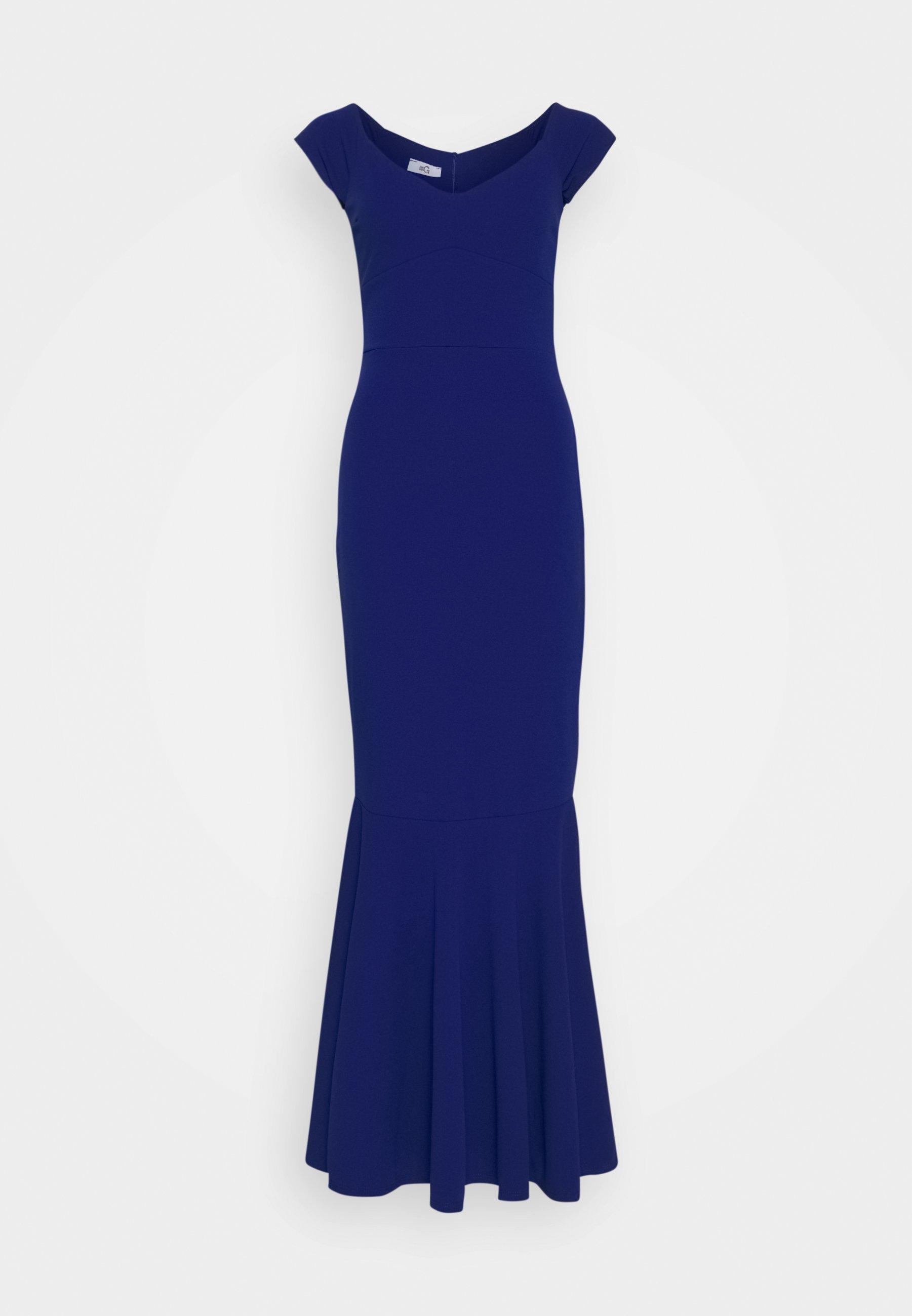 WAL G. PLEATED HEM DRESS Robe de cocktail electric blue