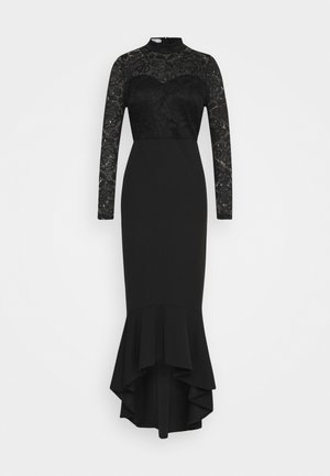 LONG SLEEVE MIDI DRESS - Cocktailkjole - black