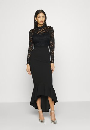 LONG SLEEVE MIDI DRESS - Cocktailjurk - black