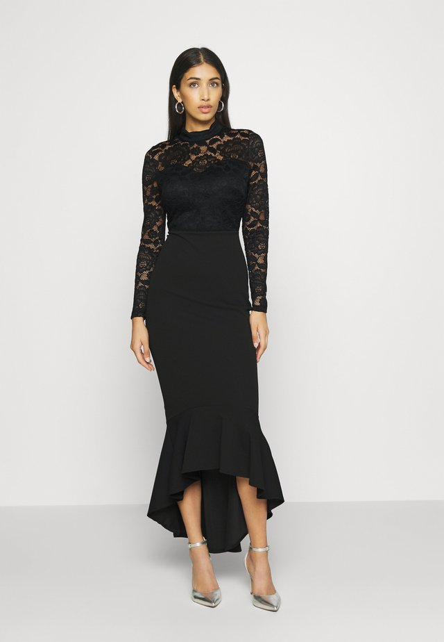 LONG SLEEVE MIDI DRESS - Cocktailkjoler / festkjoler - black