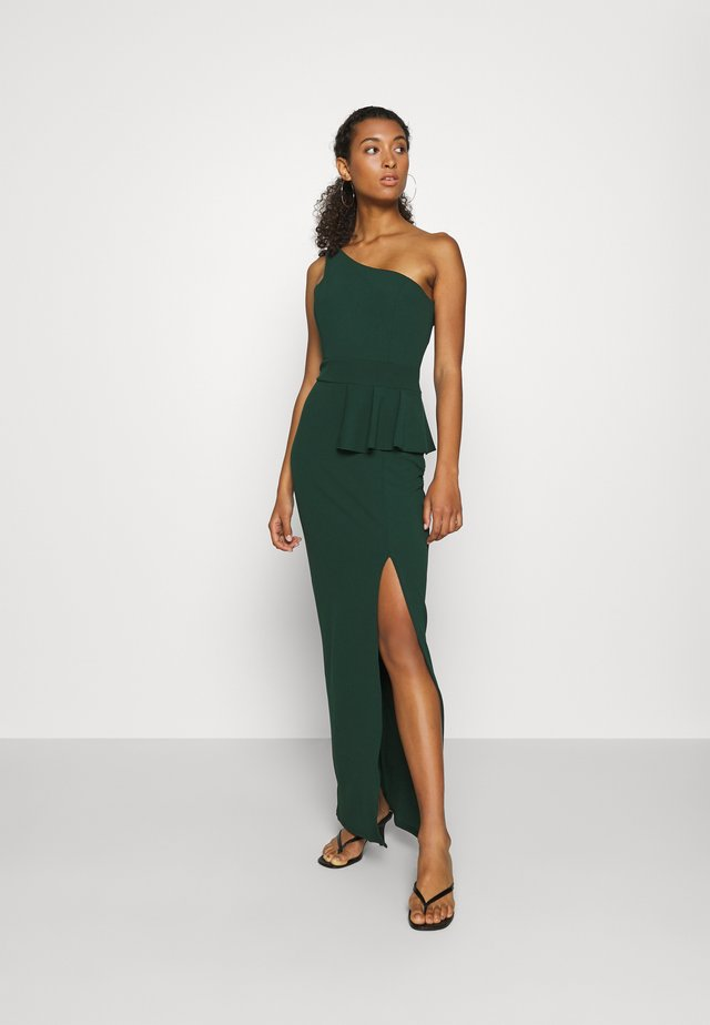 ONE SHOULDER DRESS - Galajurk - forest green