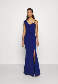 WAL G. - FRILL DETAIL DRESS - Vestido de fiesta - cobalt blue - 0